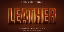 Editable Text Effect - Leather Texture Style