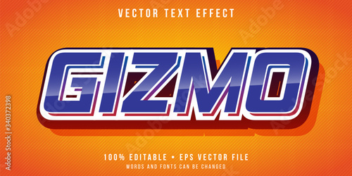 Editable text effect - retro gizmo style Canvas Print