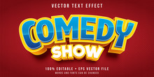 Editable Text Effect - Comedy Title Style