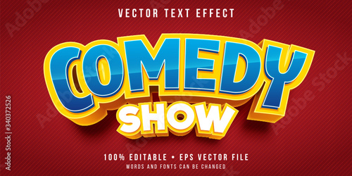 Editable text effect - comedy title style Fototapeta