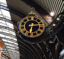 Low Angle View Of Clock At York Railway Station
