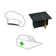 Profession Hat Set. Nurse Cap,...