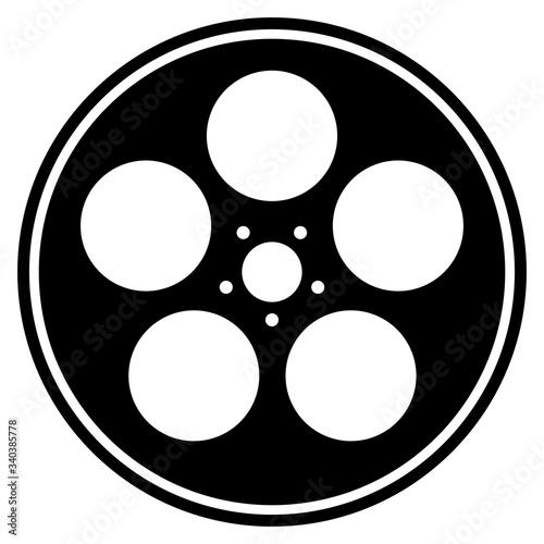 Valokuvatapetti film reel canister in black and white