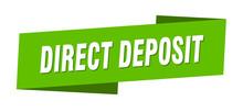 Direct Deposit Banner Template...