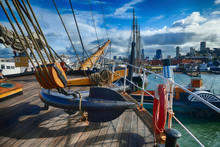 Vintage Ships Anchored At Hyde St Pier