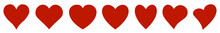 Set Of Hearts Icon, Heart Draw...