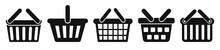 Set Shopping Basket Icons, Buy Symbol. Shop Handbag Icon – Stock Vector
