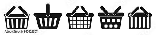 Set shopping basket icons, buy symbol Fototapete