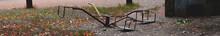 Panoramic View Of Broken Carou...