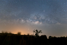 Landscape With Milky Way, Nigh...