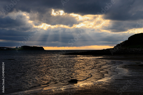 Shafts of sunlight at Port Hood shores Cape Breton Island Nova Scotia Fototapete