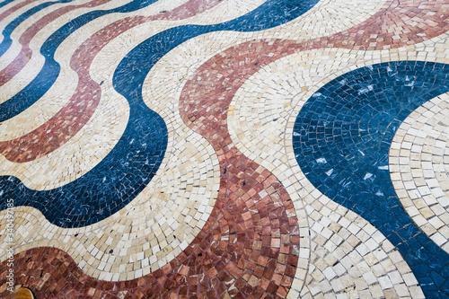 Scenic Tiles on Esplanada Boulevard in the city of Alicante Canvas Print