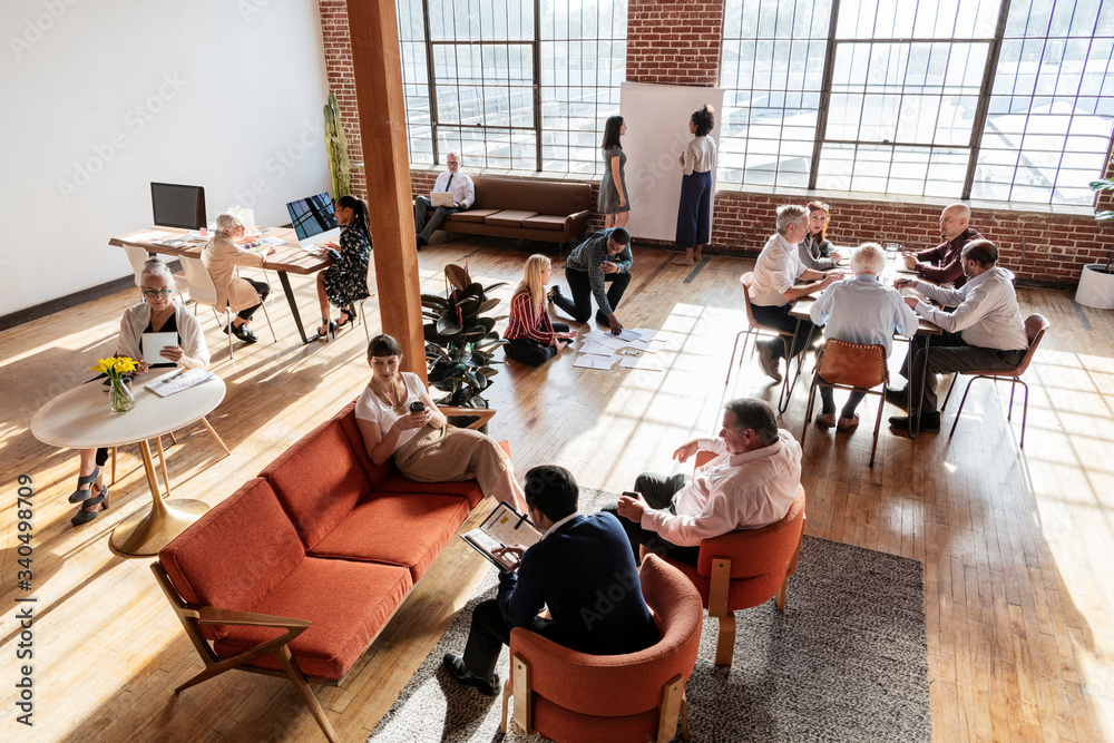 Fototapeta Diverse business team in an office