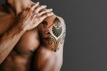 Upper Arm Tattoo Mockup