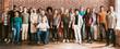 Leinwandbild Motiv Community of diverse people