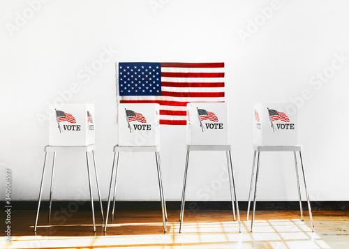 Fotografia Ameican polling booth