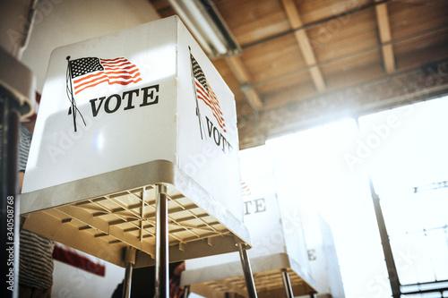 People voting election poll Fototapeta