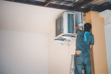 Cleaning Air Conditioner By Wa...