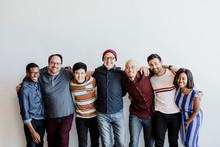Happy Diverse Team