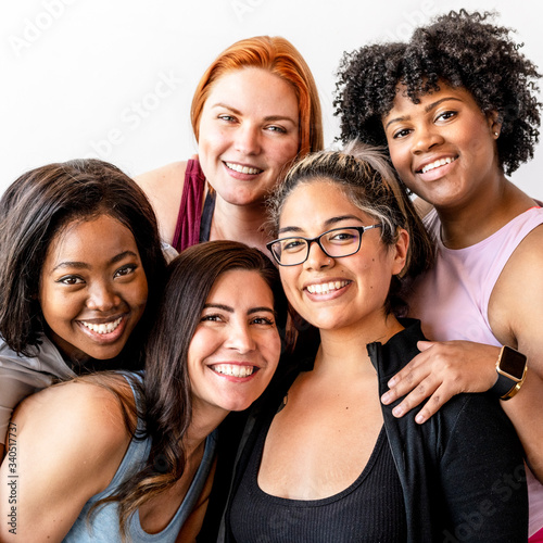 Diverse women coming together Wall mural