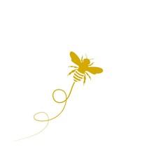Flying Bee Logo Template Icon Illustration Design