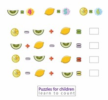 Math For Kids Fruits Counting Educational GameLearning Game Designed