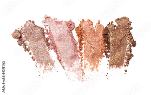 Smear of shiny beige, brown and pink eyeshadow Canvas