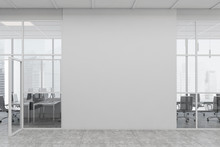 White Open Space Office Corrid...