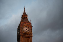 Low Angle View Of Big Ben Tower Against Cloudy Sky