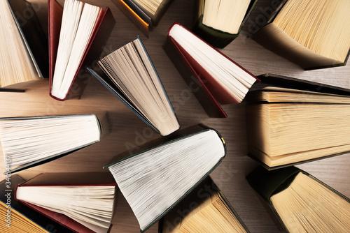 Books top view Wallpaper Mural