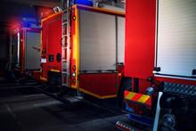 Firetrucks With Emergency Ligh...