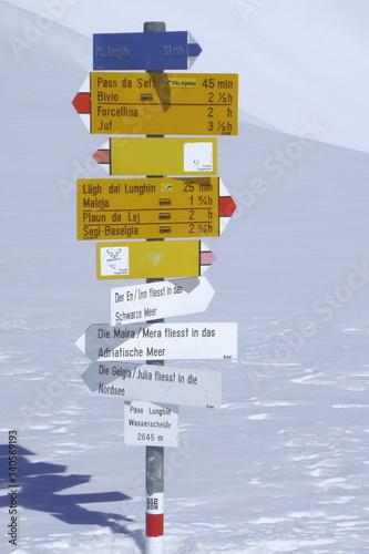 Bivio, Skitour auf den Piz dal Sasc Canvas Print