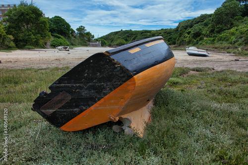Photo vieille coque de bateau