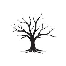 Dry Tree Silhouette Vector