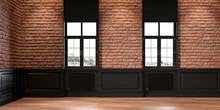 Loft Interior With Brickwall, ...