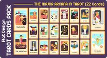 The Major Arcana In TAROT CARD FLAT DESIGN