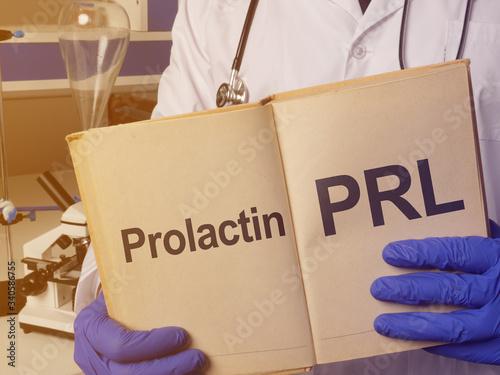 Prolactin PRL is shown on the conceptualmedical photo Fototapeta