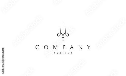 Valokuva Vector logo on which an abstract and elegant image of a trident.