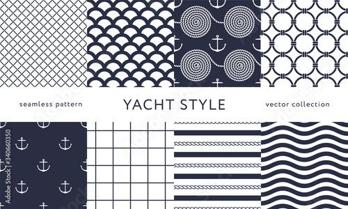 Foto Set of nautical seamless patterns
