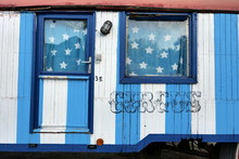 View Of An Old Circus Trailer ...