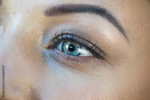 Fototapety, obrazy: A close up of a persons eyes