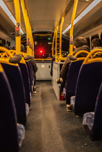 Empty Public Transport At Night In London Bus Double Decker Engalnd
