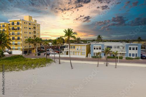 Dramatic sunset over Hollywood Beach FL Wallpaper Mural