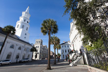 A View Of The St Michaels Church In Historic Charleston