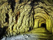 Old Limestone Mine Tunnel Lime...
