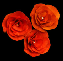 Three Artificial Unfading Red ...