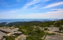 High Angle Shot Of The Cadillac Mountain Captured In Acadia National Park, USA