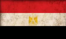Egyptian Flag On Grunge Backgr...