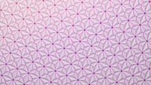 Abstract Background Geometric Background Triangles And Flowers Minimalistic Render With Saturated Pink Edges. 3d Render Light Background.