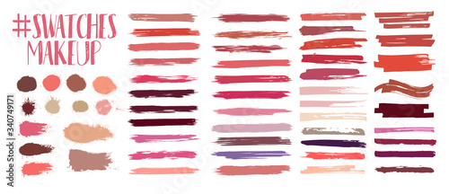 Fototapeta Swatches makeup collection